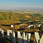 Hollywood And The Los Angeles City Skyline Art Print