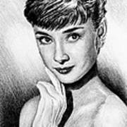 Hollywood Greats Hepburn Art Print