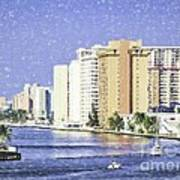 Hollywood In Florida Art Print