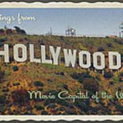 Hollywood Postcard Art Print
