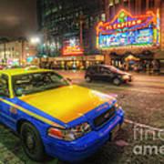 Hollywood Taxi Art Print