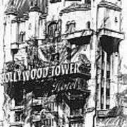 Hollywood Tower Art Print
