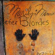 Hollywood Walk Of Fame Marilyn Monroe 5d29023 Art Print