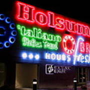 Holsum Neon Las Vegas Art Print by Kip Krause