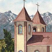 Holy Family Catholic Church In Fort Garland Colorado Art Print
