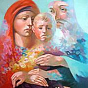 Holy Family Art Print by Filip Mihail