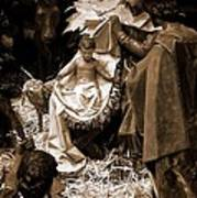 Holy Family Nativity - Color Monochrome Art Print