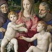 Holy Family With St. Anne And The Infant St. John Art Print