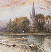 Holy Trinity Church On The Banks If The River Avon Stratford Upon Avon Art Print