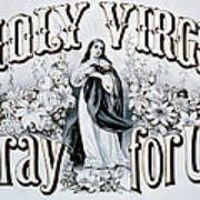 Holy Virgin Pray For Us Print by Bill Cannon
