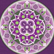 Holy Week Mandala Art Print by Linda Pope