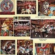 Holyoke Carousel Collage Art Print