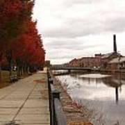 Holyoke Mills And Canal Art Print