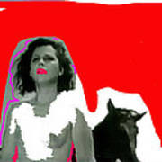 Homage Hedy Lamarr Nude Extasy 1932 Screen Capture Collage 1932-2012 Art Print