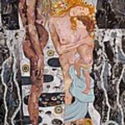 Homage To Klimt's Three Ages Of Woman Art Print