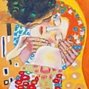 Homage To Master Klimt The Kiss Art Print