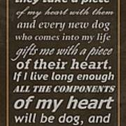 Homage To The Dogs In Our Lives Art Print