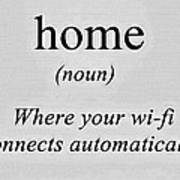 Home And Wifi Art Print