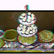 Home For The Holidays - Use Red-cyan 3d Glasses Art Print
