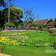 Home Gardening Zones Art Print by Boon Mee
