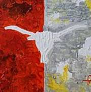 Home Of The Longhorns Art Print