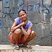 Homeless In Indonesia Art Print