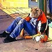 Homeless In Seattle Art Print