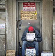 Homeless In The Usa Art Print