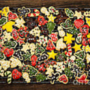 Homemade Christmas Cookies Print by Elena Elisseeva