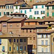 Homes In Cortona Art Print
