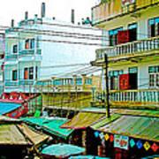 Homes In Tachilek-burma Art Print