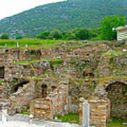 Homes Of The Rich In Central Ephesus-turkey Art Print