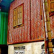 Homes On Stilts In Tachilek-burma Art Print