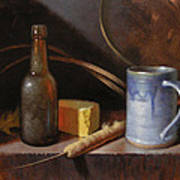 Homestead Beer And Cheese Art Print by Timothy Jones