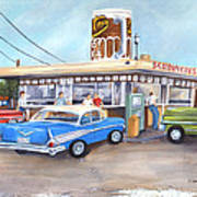 Hometown Memories Art Print