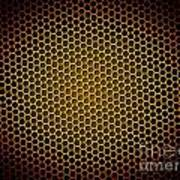 Honeycomb Background Art Print