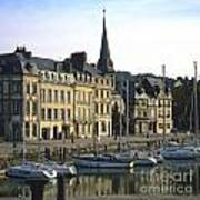Honfleur Harbour. Calvados. Normandy. France. Europe Art Print by Bernard Jaubert