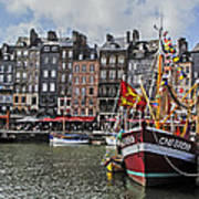 Honfleur Holiday Art Print