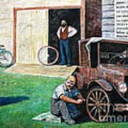 Hong Hing Mural Detail Art Print