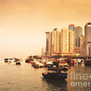 Hong Kong Harbour 02 Art Print