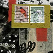 Hong Kong Postage Collage Art Print