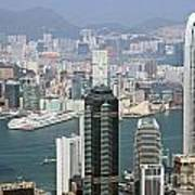 Hong Kong Skyline Art Print by Lars Ruecker