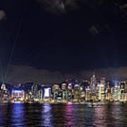 Hong Kong Symphony Of Lights Show Art Print