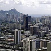 Honolulu - Diamond Head - Pacific Art Print