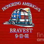 Honoring Americas Bravest From Sept 11 Art Print