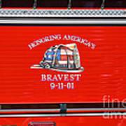 Honoring Americas Bravest Sept 11 Art Print