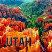 Hoodoos In Bryce Canyon Utah Art Print