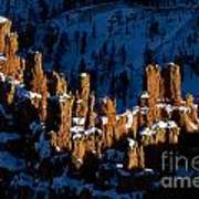 Hoodoos In Shadows Bryce Canyon National Park Utah Art Print