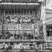Hoop Shots Bw Art Print