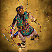 Hooping His Heart Out Art Print